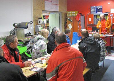 interne Weiterbildung der Mitarbeiter von Ski Bike Marr